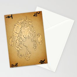 Avatar Last Airbender Map Stationery Cards