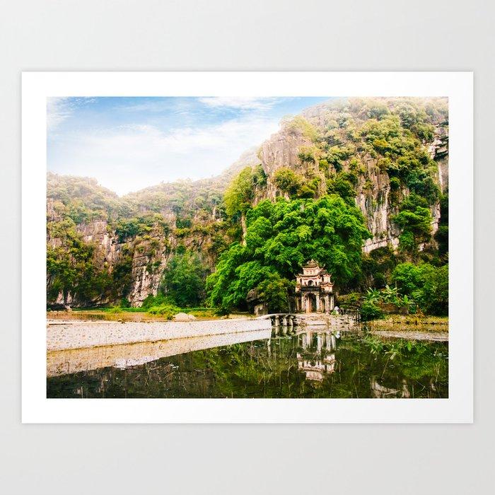 Bich Dong Pagoda in Vietnam Fine Art Print Art Print