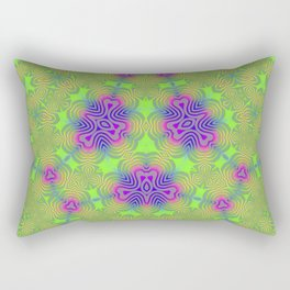 Green Foliage Rectangular Pillow