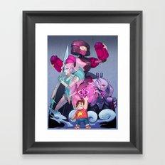 Steven and the Robot Gems Framed Art Print