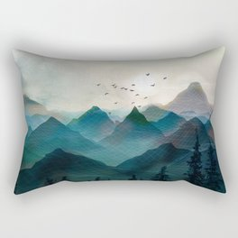 Mountain Sunrise II Rectangular Pillow