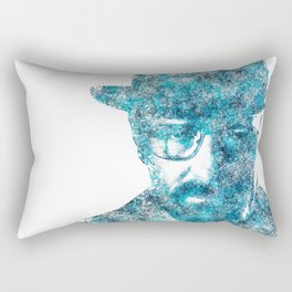 Walter White made of SkyBlue. Breaking Bad returns TONIGHT!!! Rectangular Pillow