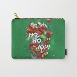 Merry Xmas Green Carry-All Pouch