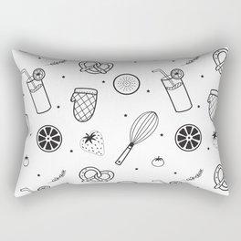 Modern Juice Pattern Rectangular Pillow