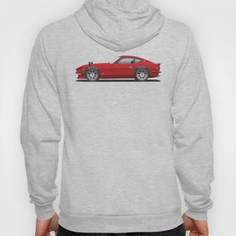 Legendary Classic Red 240z Fairlady Vintage Retro Cool German Car Wall Art and T-Shirts Hoody
