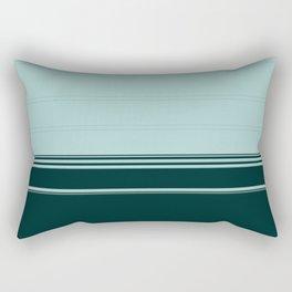 Bold Teal Green Stripes Rectangular Pillow