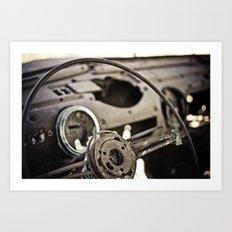 Behind The Wheel Art Print