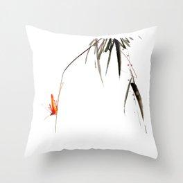 Chinese Shui-mo(水墨)- Grasshopper Throw Pillow