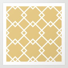 Diamonds (gold) Art Print