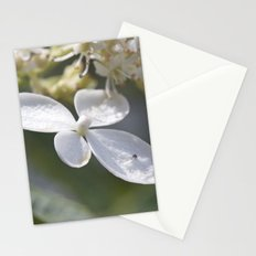 4 petal flower Stationery Cards