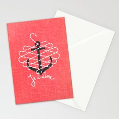 Je t'aime Stationery Cards