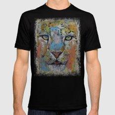 Leopard Mens Fitted Tee MEDIUM Black
