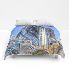 The Gherkin and Tower bridge Comforters