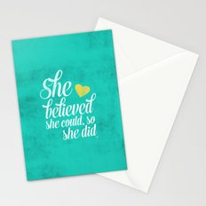 She believed and she did Stationery Cards