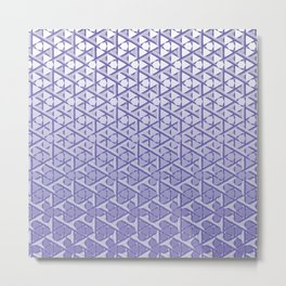 Geometric Gradient Metal Print