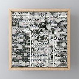 Divergence Toward Chaotic Attractors (P/D3 Glitch Collage Studies) Framed Mini Art Print