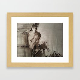 Contemplatory Framed Art Print