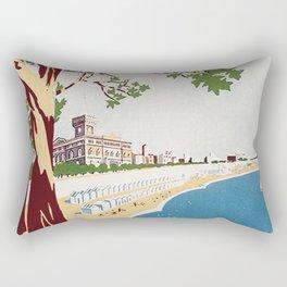Vintage Nettuno Italy Travel Poster Rectangular Pillow