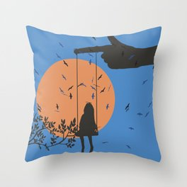Down from heaven Throw Pillow