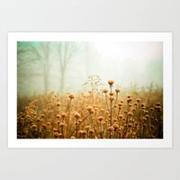 minimal Art Prints featuring Daybreak in the Meadow by Olivia Joy StClaire