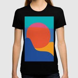 Mid Century Wall Art Black and White Mid Century Modern Art Print Retro Art Print Geometric Minimal T-shirt