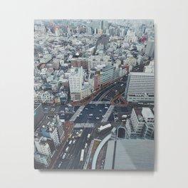 Tokyo Blue Metal Print