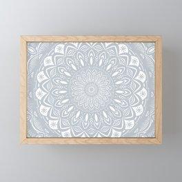 Cool Gray Mandala Simplistic Bold Minimal Minimalistic Framed Mini Art Print