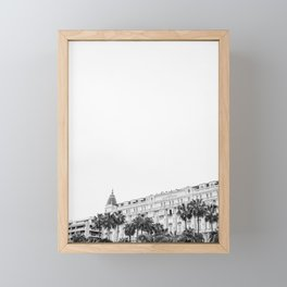 Pretty Cannes | Carlton hotel on the beach in the South of Spain | Black and white Framed Mini Art Print