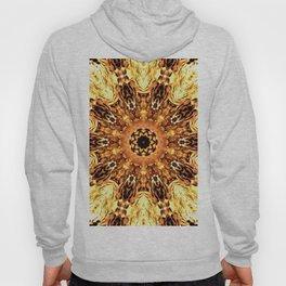 Yellow Brown Mandala Abstract Flower Hoody