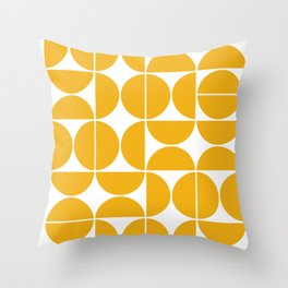 Mid Century Modern Geometric 04 Yellow Deko-Kissen