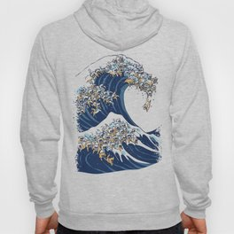 The Great Wave Of  Cat Hoody