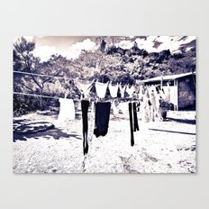 Clothsline Canvas Print