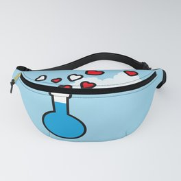 Blue and Red Laboratory Flask Fanny Pack