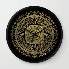 Golden  Star of Lakshmi - Ashthalakshmi  Sri Wall Clock