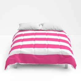 Barbie Pink (2004-2005) - solid color - white stripes pattern Comforters