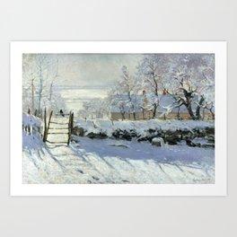 The Magpie by Claude Monet Art Print