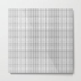 Light Grey Plaid Metal Print