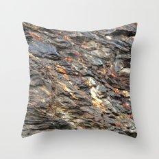 Rocky Mountain Texture  Throw Pillow