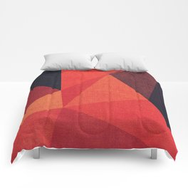 Abstract geometric patter.Triangle background Comforters
