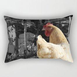 Another Dramatic Chicken Rectangular Pillow