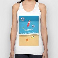Summer Beach Unisex Tank Top
