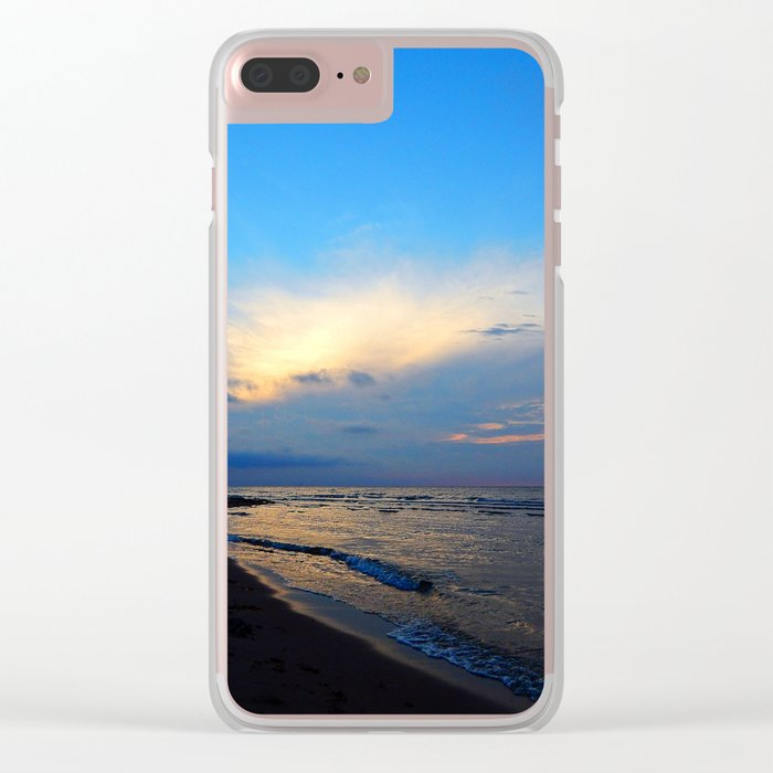 PEI Beach Sunset Clear iPhone Case