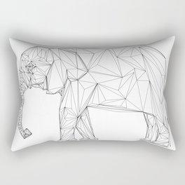 geometric lines, elephant Rectangular Pillow