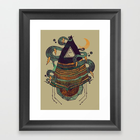Positive Thinking Framed Art Print