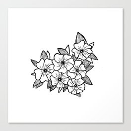 Inked flowers Canvas Print