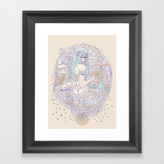 hues in moss Framed Art Print