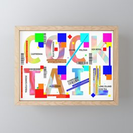 Cocktail - C O C K T A I L Framed Mini Art Print