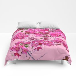 Decorative Pink Crab Apple Blossoms Spring Art Comforters