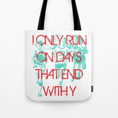 Running Days Tote Bag