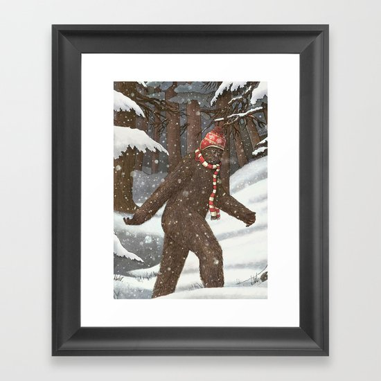 Everyone Gets Cold Framed Art Print